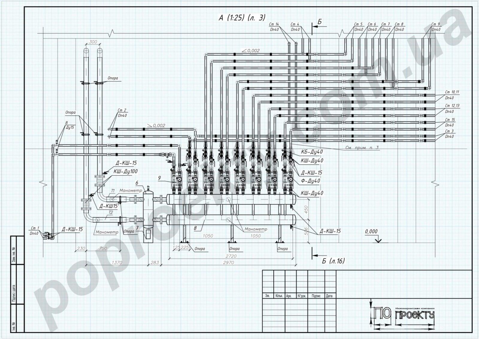Проект реконструкции системы отопления промпредприятия